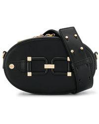 Elisabetta Franchi バックル ベルトバッグ - ブラック