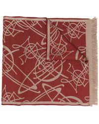 Vivienne Westwood Orb パターン スカーフ - レッド