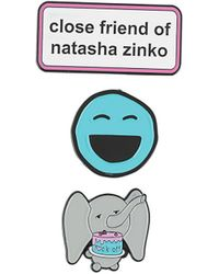 Natasha Zinko Slogan And Smiley Pins Set - White