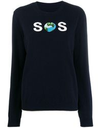 Stella McCartney Watw Sos Embroidered Sweater - Blue