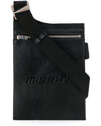 MISBHV Embossed Logo Envelope Shoulder Bag - Black