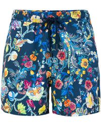 Etro - Floral Print Swim Shorts - Lyst