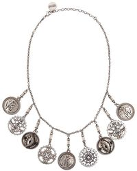 Roberto Cavalli Coin Charm Necklace - Metallic
