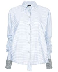 ANOUKI - Buttoned Striped Shirt - Lyst
