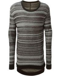 Odeur - Striped Crew Neck Sweater - Lyst
