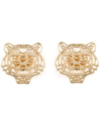 KENZO - Small 'tiger' Earrings - Lyst