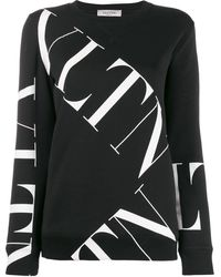 Valentino Vltn Logo Sweatshirt - Black