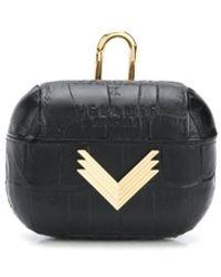 Manokhi X Velante Logo-plaque Airpods Case - Black
