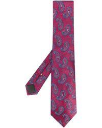 Canali - Corbata con estampado de cashmere - Lyst
