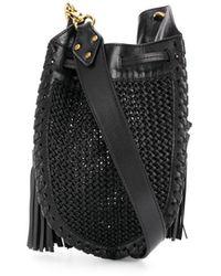 Isabel Marant Radja Braided Cross Body Bag - Black
