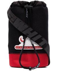 Off-White c/o Virgil Abloh Logo-appliquedd Bottle Bag - Red