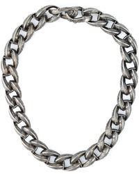 Garrard - Feather Chunky Chain Necklace - Lyst