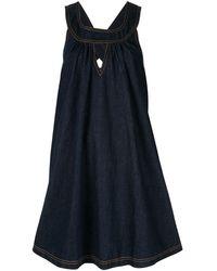 Karen Walker Cascade デニムドレス - ブルー