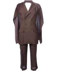 Jean Paul Gaultier Backless Two Piece Suit - Brown