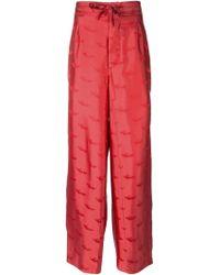 La Perla Jacquard Pyjama Trousers - Red