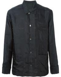 La Perla Jacquard Pyjama Top - Black
