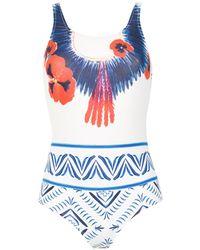 Isolda Cocar Swimsuit - White