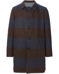 Wooster + Lardini - Reversible Striped Coat - Lyst
