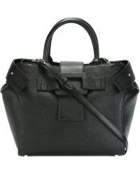 Roger Vivier Small Pilgrim De Jour Leather Bag - Black