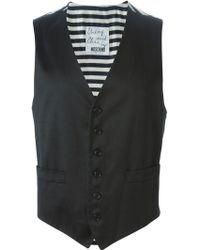 Moschino 'exit' Waistcoat - Black