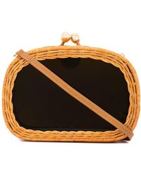 Serpui - Wicker Clutch Bag - Lyst