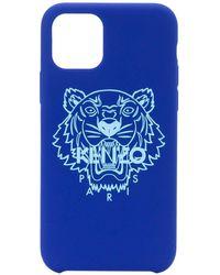 KENZO Чехол Для Iphone 11 Pro С Принтом Tiger - Синий