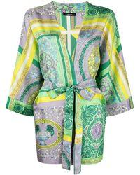 Versace Халат С Принтом Baroque - Зеленый