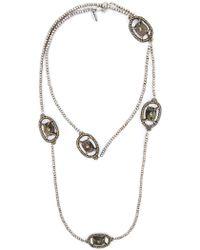 Roni Blanshay - Stone Embellished Beaded Necklace - Lyst