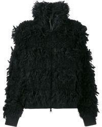 Brunello Cucinelli Фактурная Куртка С Высоким Воротником - Черный
