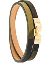 Northskull 18kt vergoldetes Wickelarmband