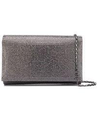 Rene Caovilla Stud-embellished Clutch Bag - Metallic