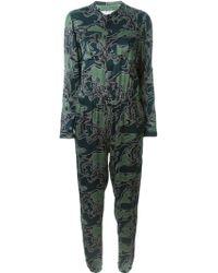 Julien David - Camouflage Print Jumpsuit - Lyst