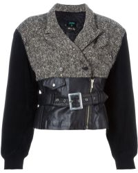 Jean Paul Gaultier 'forbidden Gaultier' Biker Jacket - Black