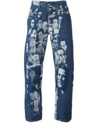 Jean Paul Gaultier   Jacquard Face Jeans   Lyst