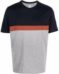 Eleventy カラーブロック Tシャツ - グレー