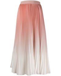 Agnona Ombre Pleated Midi Skirt - Pink