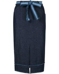 Timo Weiland - Denim Pencil Skirt - Lyst