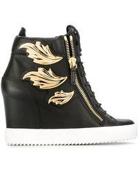 Giuseppe Zanotti 'cruel' Wedge Sneakers - Metallic
