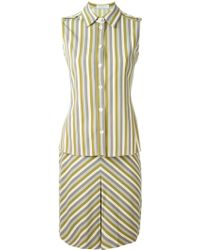Prada - Blouse And Skirt Suit - Lyst