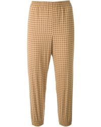 Scanlan Theodore Foulard Print Cuffed Pants - Brown