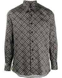 Billionaire Рубашка Milano С Принтом Crest - Черный