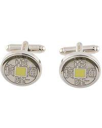 Shanghai Tang Old Chinese Coin Cufflinks - Metallic