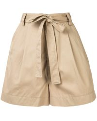 Markus Lupfer High-waisted Belted Shorts - Brown