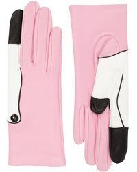 Yazbukey - Flamingo Leather Gloves - Lyst