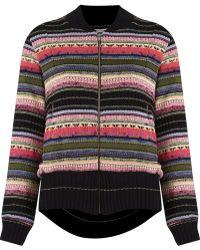 Cecilia Prado - Stripped Pattern Knitted Jacket - Lyst