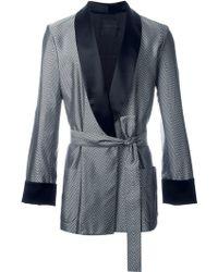 La Perla Jacquard Chevron Dressing Gown - Black