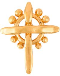 Christian Lacroix - Gold Cross Brooch - Lyst