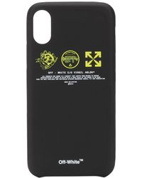Off-White c/o Virgil Abloh Logo Prints Iphone Case - Black
