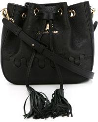 Roberto Cavalli 'regina' Bucket Crossbody Bag - Black