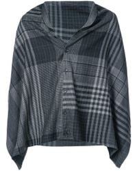 Engineered Garments - Check Buttoned Shawl - Lyst